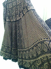 Sushi Gold stripe & Swan Tribal print lined cotton sequin skirt size 16 NEW