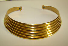 Vintage 1980's Thick Goldtone Collar Necklace