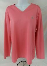 Adidas Women's Long Sleeve Pink Athletic Shirt Size XL
