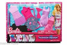 Barbie Doll Fashion Design Plates Refill Kit 20 + Dress Designs new