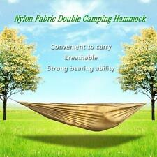 Portable Compact Nylon Fabric Traveling Camping Hammock for Two Persons K1K7