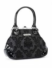 Gg Rose By Rock Rebel Mistress Midnight Black Kisslock Gothic Handbag Purse