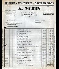 """BOURGES (18) EPICERIE / CONFISERIE / CAFES en gros """"A. MORIN"""" en 1955"""
