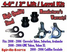 "2000 - 2006 Chevrolet GMC 1500  4"" - 6"" / 3"" Lift Kit Spindles Spacer SUV 00-06"