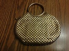 Vintage Whiting and Davis Gold Metal Mesh Clutch Purse Tagged Very Nice
