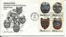 INDIAN ART HEAD MASKS THIS IS THE SE-TENANT BLOCK OF 4 ARTMASTER CACHET U/A  FDC