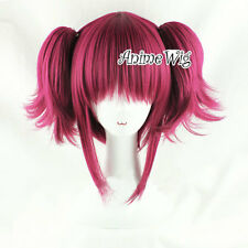 Lolita Wine Red Layered Style Women Girl Fashion Cosplay Hair Wig With Ponytails