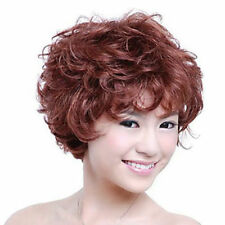 Capless Short High Quality Synthetic Auburn Curly Hair Wig Synthetic Wigs NEW