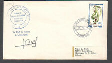 1974 space cover SMS satellite launch tracking Brazzaville Congo Le Chef signed