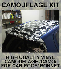 Camouflage Camo Roof Bonnet Stickers JDM Wrap Vinyl for Drift Modified Car VW