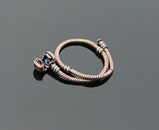 19cm Mens Womens Girls Charm Anodised Brown LOVE European Bead Bracelet 7.5 inch