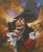 """Disney's Peter Pan's """"Angry Captain Hook"""" Cross Stitch Pattern CD"""