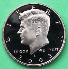 2003 S Proof Kennedy Half Dollar Coin 50 Cent JFK from US Mint Proof Set