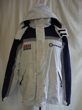 Mens Coat - Ocean Pacific, size L, navy/grey/white, padded, well used - 1252