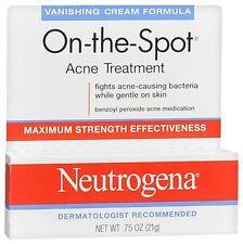 Neutrogena On-The-Spot Acne Treatment Vanishing Cream Formula 0.75 oz (5 pack)