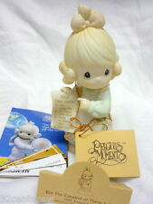 MIB BUT THE GREATEST OF THESE IS LOVE 1992 PRECIOUS MOMENTS GIRL FIGURINE