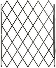 "Security Gate Expandable Folds Flat Reversible Latching Bar 48"" x 79"" Black New"