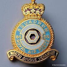 """RAF 85 """"Flying Foxes"""" Squadron-Enamel Brooch Badge-Royal Air Force Church Fenton"""