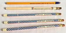 5 Vintage Farm Grain Feed Wooden Advertising Pencils Purina Chows Hatchery Dairy