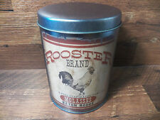 Vtg-Look Tin Food Safe Rooster Brand Molasses Baton Rouge Metal Canister Can