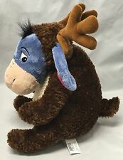 Disney Store Exclusive Christmas Eeyore As A Reindeer Scarf Plush Toy Animal