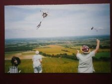 POSTCARD SUSSEX KITE FLYING ON THE SUSSEX DOWNS