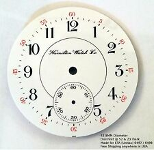 NOS Enamel Dial for Hamilton Watch made for ETA UNITAS 6497 6498 42.8mm Diameter