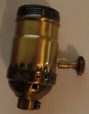 New  On/Off  Uno  Thread  Antique  Brass Industrial Style Turn Knob Lamp Socket