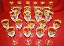 French St. Louis Gold Encrusted Stemware Collection - 23 Pieces