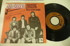 THE ORIGINAL ANIMALS 45 MANY RIVERS TO CROSS/IT'S ALL OVER NOW,BABY BLUE.FRENCH