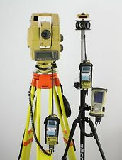 "Topcon GPT-8205A 5"" Robotic Total Station Kit, FC-200 w/ TopSURV 8.2.3 & RC-2R"