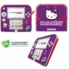 Hello Kitty Vinyl Skin Sticker for Nintendo 2DS - Purple