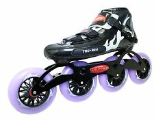 Inline Speed Skates by Trurev. 105mm or 110mm skate wheels, ceramic bearings