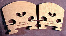 2 READY TO USE GERMAN VIOLIN BRIDGES  maple good mesh