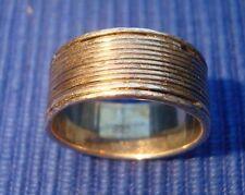 V1 Bague argent massif 925 vintage bijou lot ancien design jonc