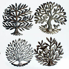Wholesale Lot 4 Trees of Life Haitian Metal Art Fair Trade Best Price, Size 15""