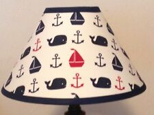 Hamptons Whale Fabric Nursery Lamp Shade M2M Pottery Barn Kids Bedding