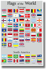Flags of the World 2 - NEW World Travel Poster