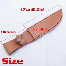 Military Real Leather Belt Sheath Scabbard Straight  Case For Fixed Knife Blade