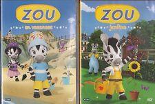 2 DVD  ZOU JARDINE - ZOU EN VACANCES dessin animé
