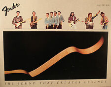 Fender original catálogo Catalog 1982 printed in estados unidos Guitar Bass amplifier Rock
