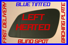 BMW F30 3SERIES 2012+ DOOR WING MIRROR GLASS BLIND SPOT BLUE HEATED LEFT