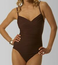 NWT Brown Womens MIRACLESUIT Captiva SWIMSUIT Underwire  Size 16
