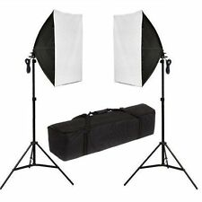 Photography Studio 2x135W Soft Box Continuous Lighting Softbox Stand Kit  Light