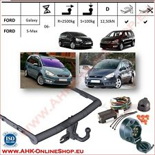 TOWBAR with Electrics 12N (7pin) Ford Galaxy / S-Max 2006- Swan Neck