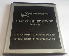 NEW MICROMAX A114 A115 A116 A117 A210 Battery-2000MAH FOR CANVAS 3D/HD/4