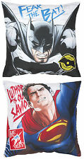 NEW BATMAN Vs SUPERMAN CLASH CUSHION PILLOW - KIDS BEDROOM BOYS BED MOVIE PLAY