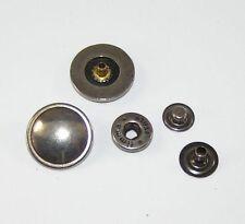 10 Botones de presión Botón de presión 20mm níquel antiguo 07.63