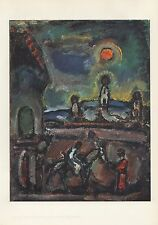 "1961 Vintage ROUAULT ""THE FLIGHT INTO EGYPT"" FABULOUS COLOR Art Print Lithograph"