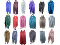 High Quality Silky Feel Solid Colour Pashmina Shawl Scarf Wrap Stole Throw